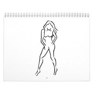Woman girl calendar