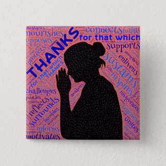 Woman Giving Christ Thanks Pin