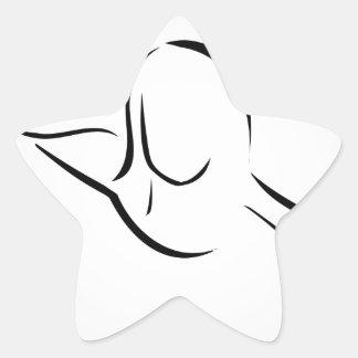 Woman giving herself a head massage star sticker