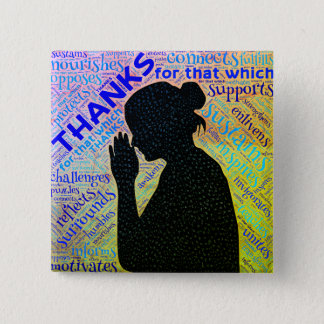 Woman Giving Thanks in Prayer Pin