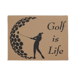 Woman Golf Is Life Doormat