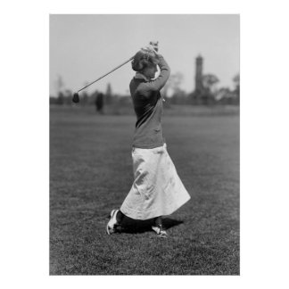 Woman Golfer, 1910s Poster