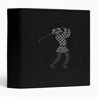 Woman Golfer 3 Ring Binder