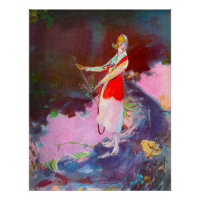 Woman Golfer - Art On Canvas Print