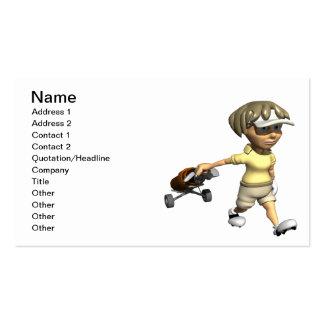 Woman Golfer Business Card