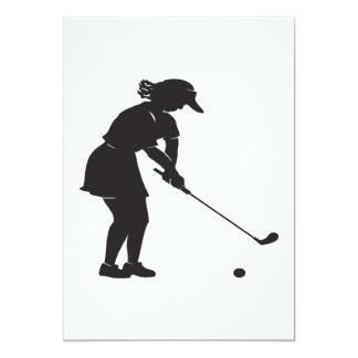 Woman Golfer Card