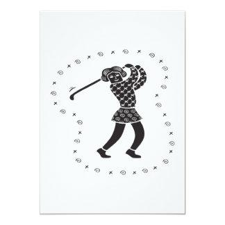 Woman Golfer Card