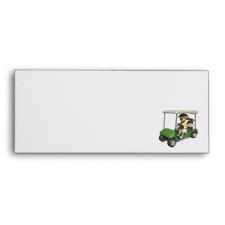 Woman Golfer Cart Envelopes