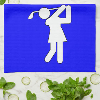 Woman Golfer - Golfing Symbol Hand Towel