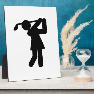 Woman Golfer - Golfing Symbol Photo Plaques