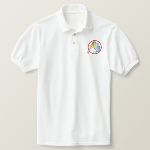 Woman Golfer Logo Embroidered Polo Shirt