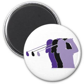 Woman Golfer Fridge Magnets