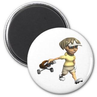 Woman Golfer Refrigerator Magnets