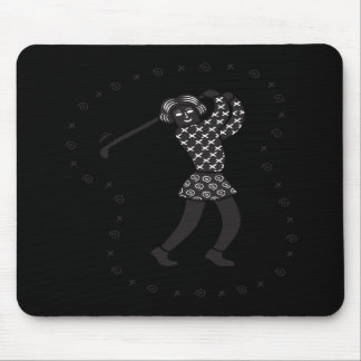 Woman Golfer Mouse Pad