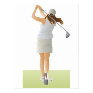 Woman Golfer Postcard