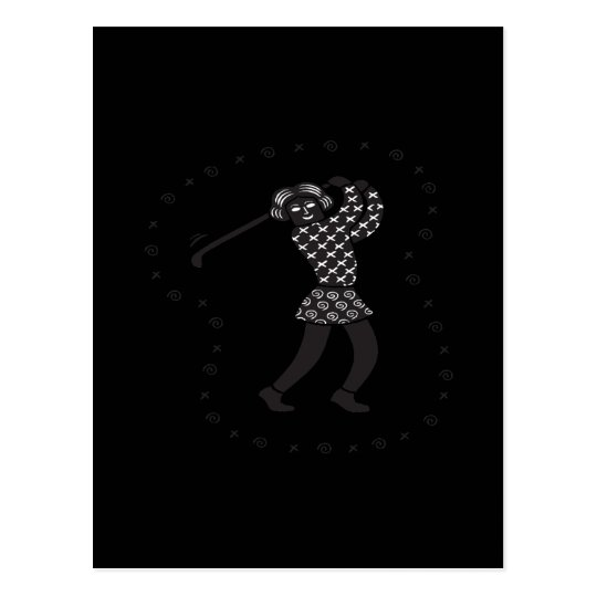 Woman Golfer Postcard