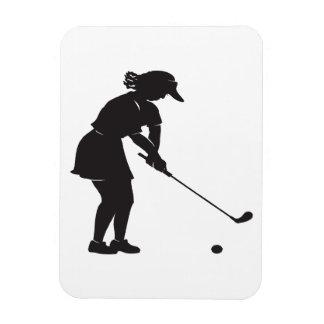 Woman Golfer Vinyl Magnet