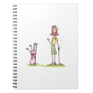 Woman Golfer Spiral Notebook
