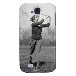 Woman Golfing, 1920s Samsung Galaxy S4 Covers