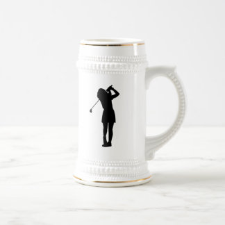 Woman Golfing Coffee Mugs