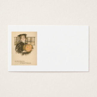 Woman Graduation Jack O' Lantern Pumpkin Business Card