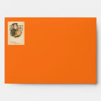 Woman Graduation Jack O' Lantern Pumpkin Envelope