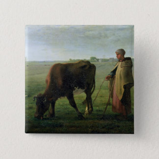 Woman Grazing her Cow, 1858 Button