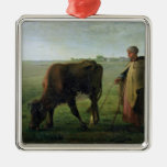 Woman Grazing her Cow, 1858 Ornaments