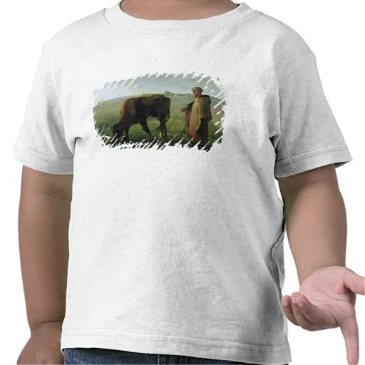 Woman Grazing her Cow, 1858 T Shirts