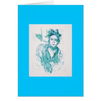 woman greeting card