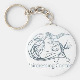 Woman Hairdresser Scissor Concept Basic Round Button Keychain