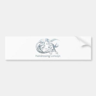 Woman Hairdresser Scissor Concept Bumper Sticker