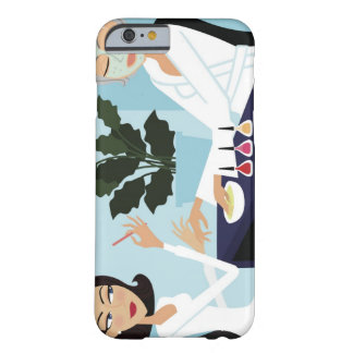 Woman having manicure and facial at spa barely there iPhone 6 case