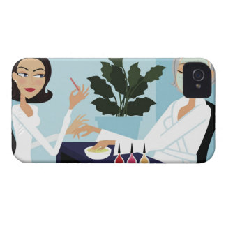 Woman having manicure and facial at spa Case-Mate iPhone 4 cases