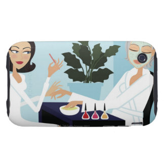Woman having manicure and facial at spa iPhone 3 tough covers