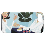 Woman having manicure and facial at spa iPhone SE/5/5s case
