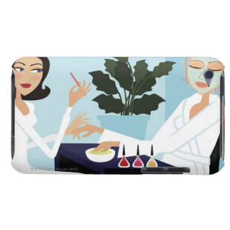 Woman having manicure and facial at spa iPod touch case