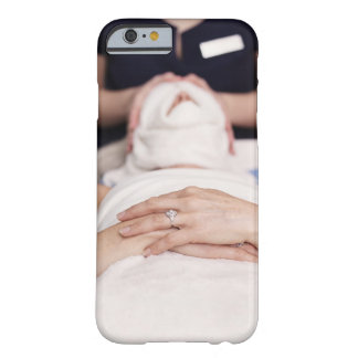 Woman having s[a treatment barely there iPhone 6 case