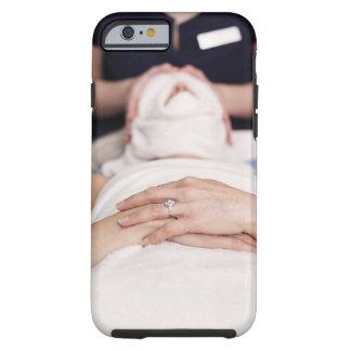 Woman having s[a treatment tough iPhone 6 case