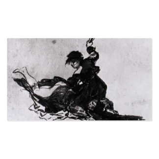 Woman Hitting Another Woman by Francisco Goya Double-Sided Standard Business Cards (Pack Of 100)