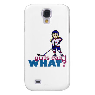 Woman Hockey Player Galaxy S4 Cases