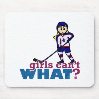 Woman Hockey Player Mousepads