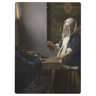 Woman Holding a Balance by Johannes Vermeer Clipboards
