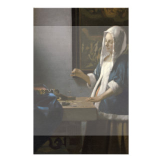 "Woman Holding a Balance by Johannes Vermeer 5.5"" X 8.5"" Flyer"
