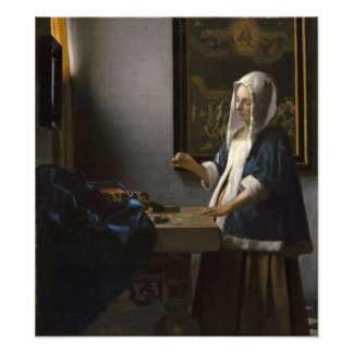 Woman Holding a Balance by Johannes Vermeer Photo