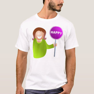 Woman Holding a Happy Sign T-Shirt