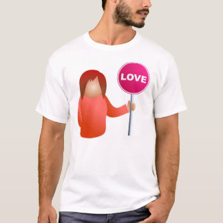 Woman Holding a Love Sign T-Shirt