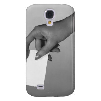 Woman Holding Card Galaxy S4 Cover