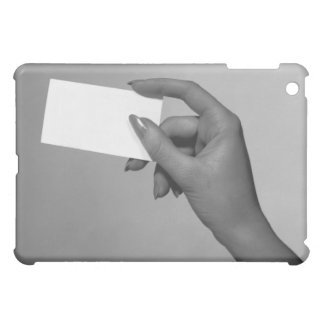 Woman Holding Card iPad Mini Cover