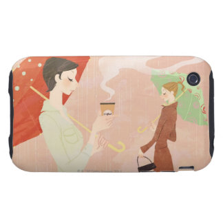 Woman Holding Coffee iPhone 3 Tough Cover